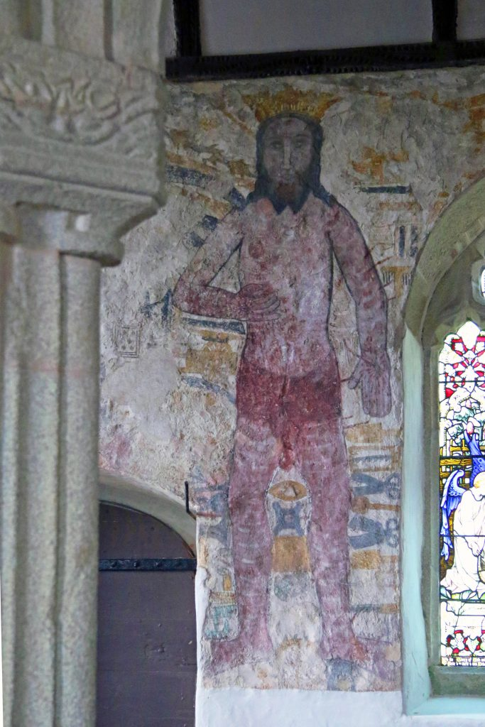 A wall painting in a church
