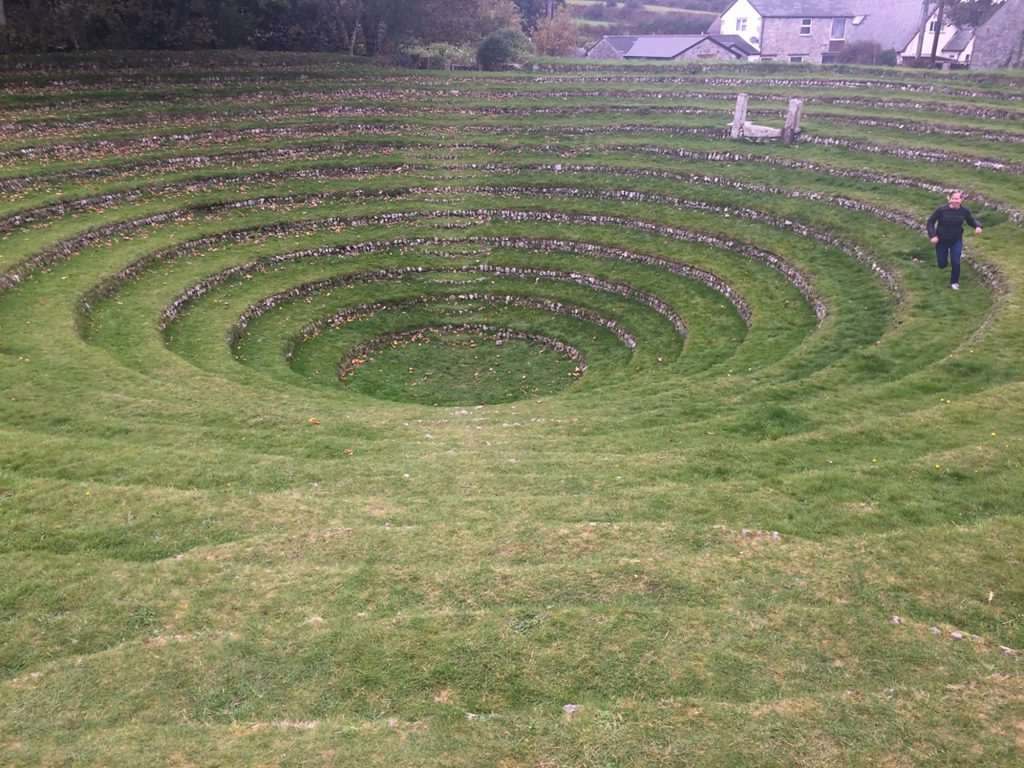 Open air grass amphitheatre