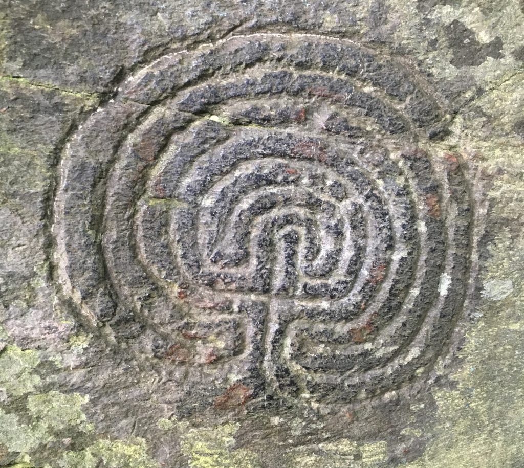 A carving in rock