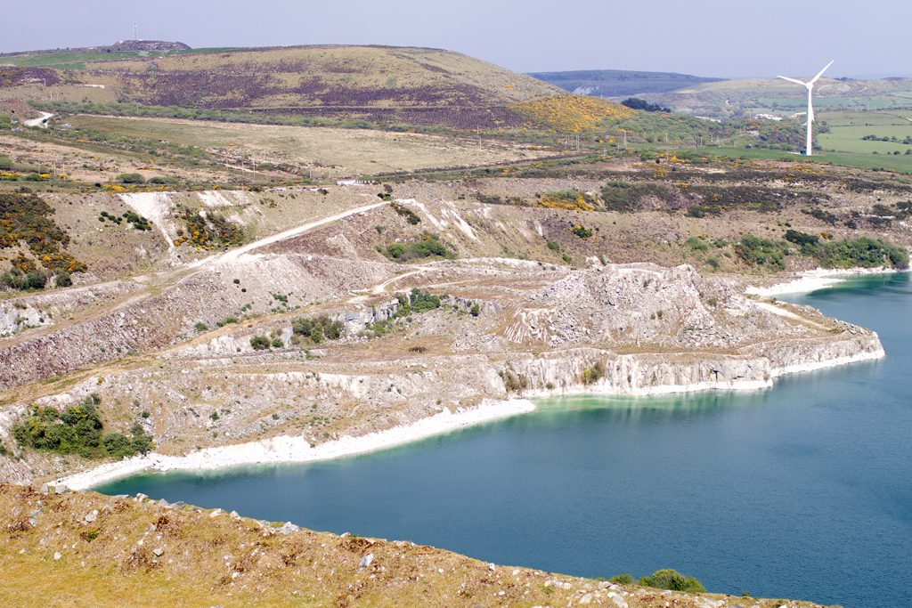 A reservoir of water at the clay pit