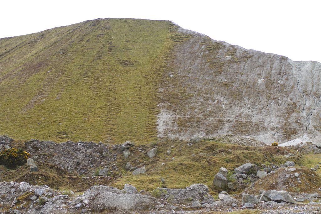 A slag pile at a china clay pit